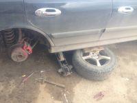 Подробнее: Замена тормозных дисков, тормозных колодок  и подкрылков Hyundai Sonata ef
