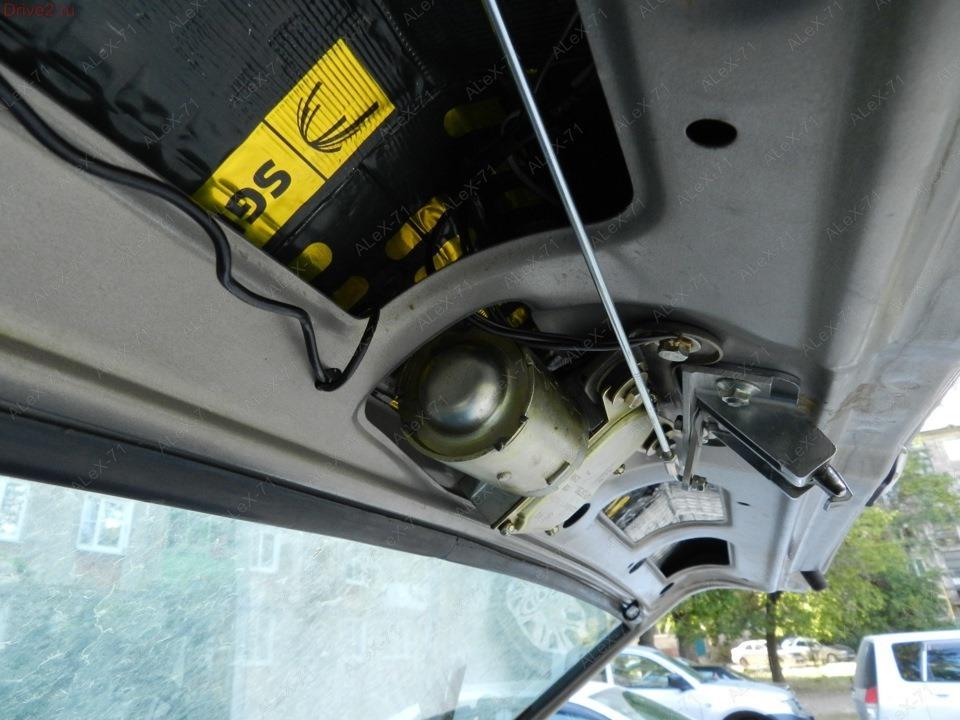 Электропривод багажника своими руками 2114