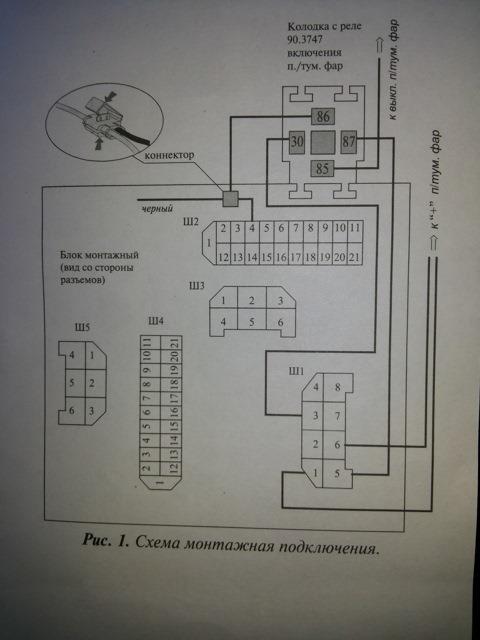 Схема подключения туманок ваз калина