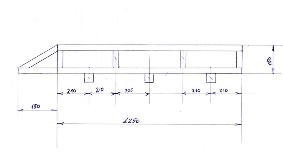 Жесткий потолок на ниву 2121 своими руками чертежи 21
