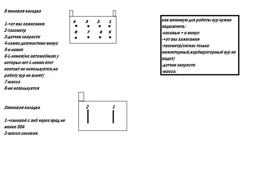 Схема подключения эура на классику