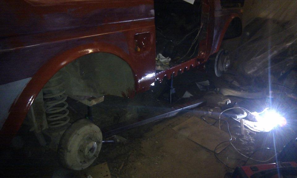 Кузовной ремонт 21213 своими руками 54